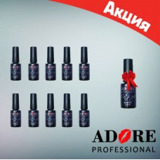 Акционный набор гель-лаков Adore Professional 10+1