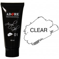 Adore Professional Acryl Gel № 01 (Clear)  Акрил гель, полигель