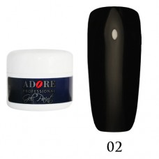 Гель - Краска Adore Professional №02 (черный)