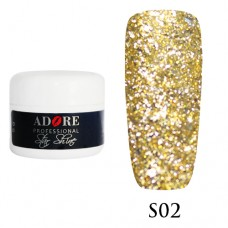 Гель Adore Professional Gel Star Shine S 02 Золото