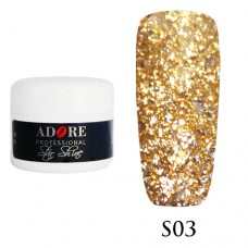 Гель Adore Professional Gel Star Shine S 03 Теплое золото