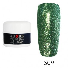 Гель Adore Professional Gel Star Shine S 09 Зеленый