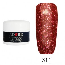 Гель Adore Professional Gel Star Shine S 11 (Красный)