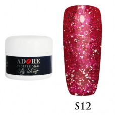 Гель Adore Professional Gel Star Shine S 12 (Малиновый)