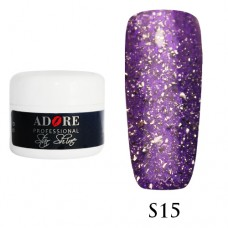 Гель Adore Professional Gel Star Shine S 15 (Сиреневый)