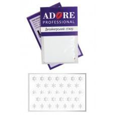 Стикер для дизайна ногтей - Снежинки белые