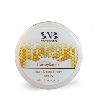 "Скраб для тела с гималайской солью серии ""Мед и Молоко"" - SNB Professional Honey & Milk Hands and Body Scrub with Himalayan Salt  300 мл"