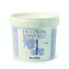 ELGON DE-COLORATION Blueberry Bleach - Обесцвечивающий порошок с усиленным антижелтым эффектом.