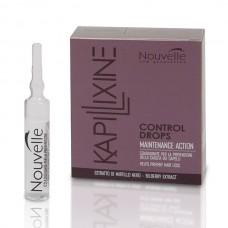 Средство против выпадения волос с экстрактом черники Nouvelle Control Drops 10 ампул по 10 мл