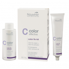 Средство для удаления полу-перманентной краски и прямых красителей с волос - Nouvelle Color Fix Kit